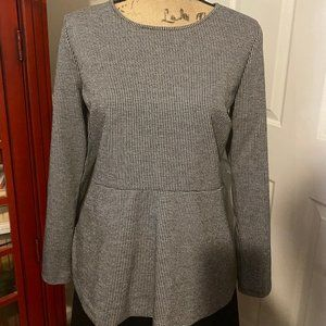 Ann Taylor Houndstooth & Black Skirt (Size M/12)